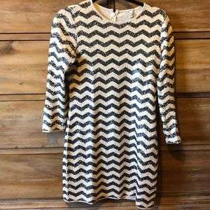 J. Crew Chevron Sequin Dress